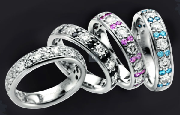 Silver ring förlovning